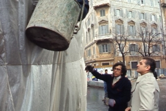 Vittorio Biffani Christo The Wall, wrapped Roman Wall via Veneto & villa Borghese, Rome 26 gennaio 1974-81