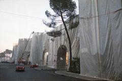z Gianni Termorshuizen Christo The Wall, wrapped Roman Wall via Veneto & villa Borghese, Rome 14