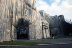 z Gianni Termorshuizen Christo The Wall, wrapped Roman Wall via Veneto & villa Borghese, Rome 16