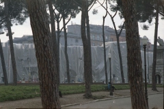 z Gianni Termorshuizen Christo The Wall, wrapped Roman Wall via Veneto & villa Borghese, Rome 8