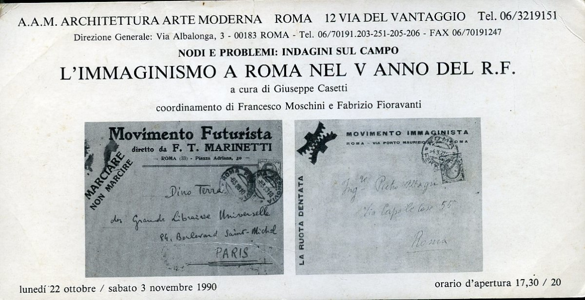 MOVIMENTO IMMAGINISTA A ROMA NEL V ANNO DEL R. F.