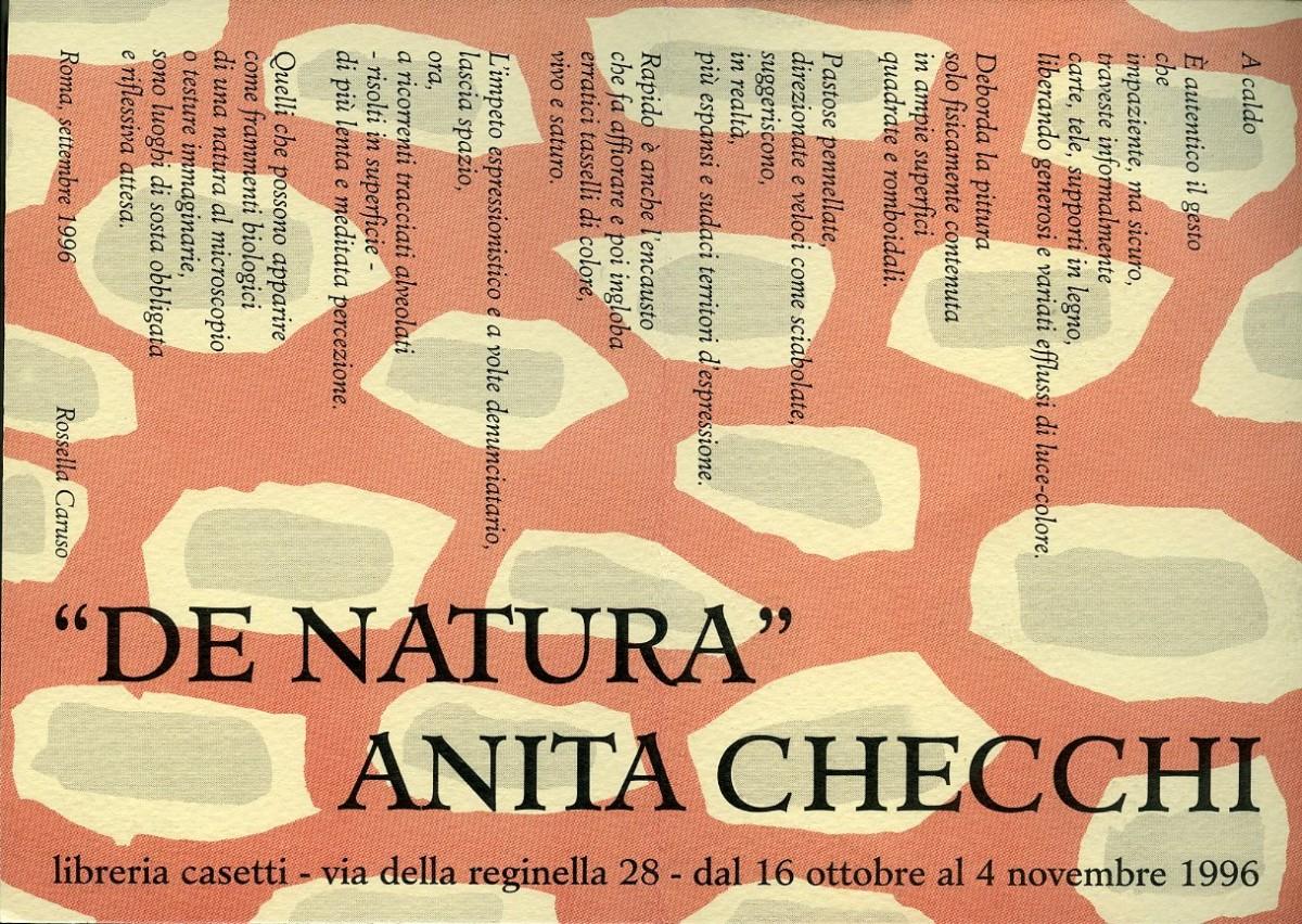 """Anita Checchi """"De Natura"""""""