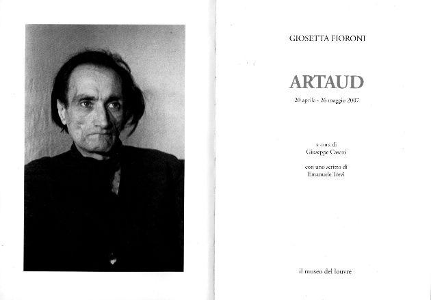 """Giosetta Fioroni  """"Artaud""""."""