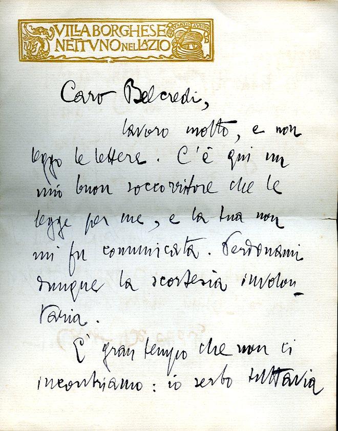 Archivio Gobbi Belcredi:il giornalismo italiano, il fascismo e la sua censura, la nascita del PEN club Italia.