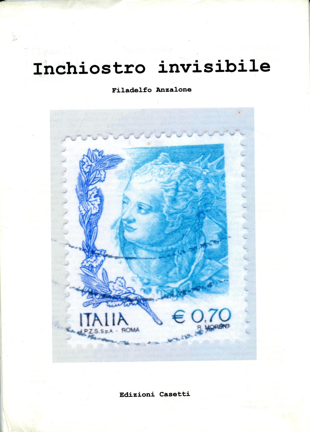 Filadelfo Anzalone Inchiostro invisibile Edizioni Casetti
