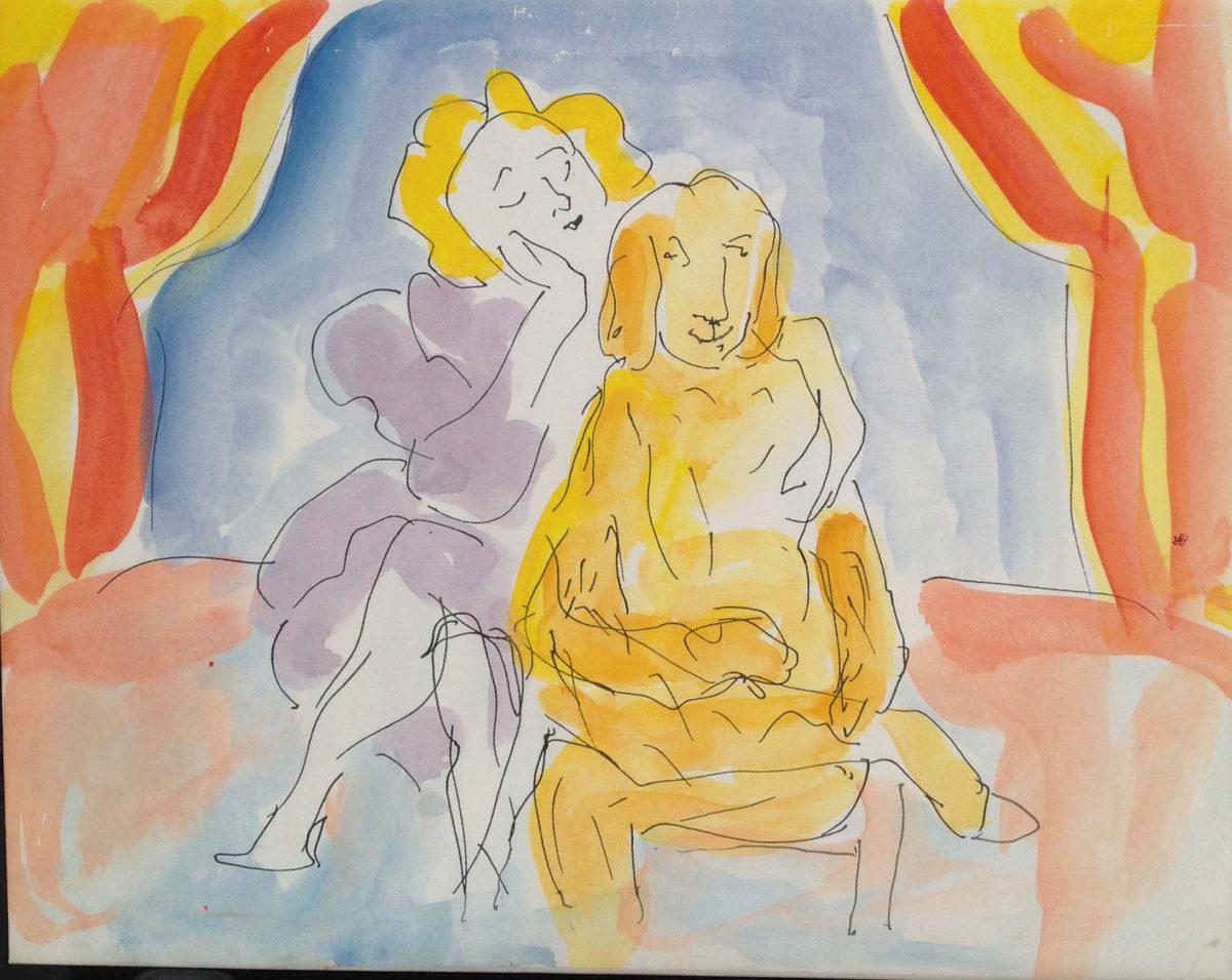 Paola Mazzetti: tempere, disegni, vignette